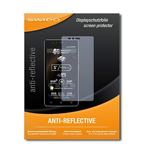 SWIDO Schutzfolie für Allview P6 Energy Lite [2 Stück] Anti-Reflex MATT Entspiegelnd, Hoher Festigkeitgrad, Schutz vor Kratzer/Bildschirmschutz, Bildschirmschutzfolie, Panzerglas-Folie