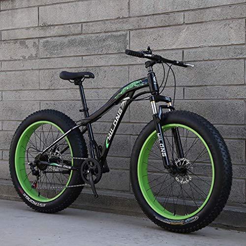 AISHFP Mens Fat Tire Bicicleta de montaña, 26 Pulgadas de Nieve para Adultos Bici, bicis de Doble Freno de Disco Crucero, Playa de Bicicletas, Ruedas Anchas 4.0