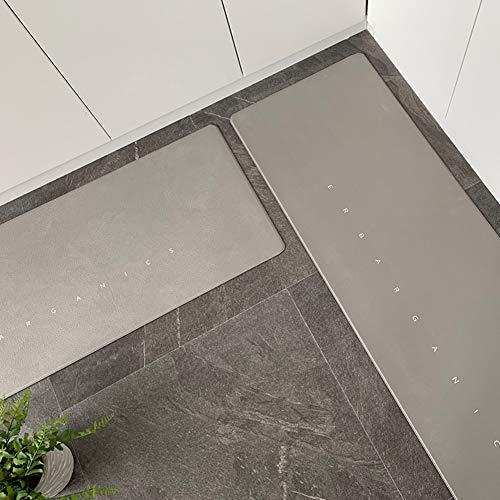 XUEKEDEDIANPU Küchenteppich, Long Wasserdicht Öl-Beweis Küchenmatte PVC Leder Fußboden-matten Badezimmer Anti-Slip Teppiche-b 45x120cm(18x47inch)+45x150cm(18x59inch)