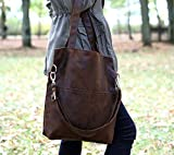 Brown tote bag, eco suede bag, shoulder bag for school, big crossbody bag, messenger bag with adjustable strap
