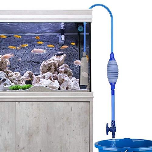 HPiano Pompe à Siphon pour Aquarium avec Robinet de contrôle du débit,Pompe de Nettoyage pour Aquarium, régulateur de débit d'eau réglable pour Changer l'eau et Nettoyer Le Gravier