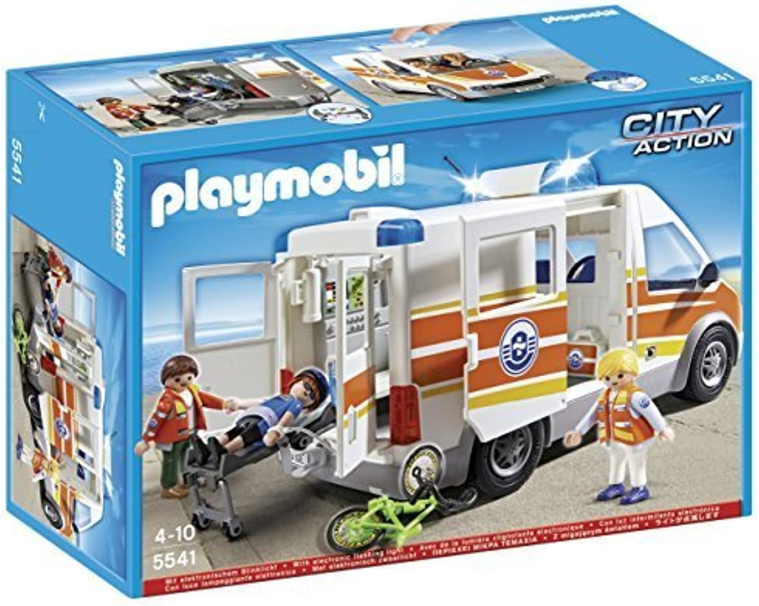 PLAYMOBIL 5541 - Ambulance with Light and Sound by PLAYMOBIL