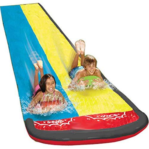 Happt Kinder Wasserrutsche, Wasserrutsche Garten, Doppel Wasserrutsche Spray Sommerspielzeug Für Draußen (610 x 145CM)