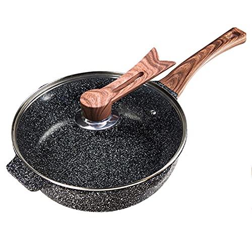 LGR Sartén Antiadherente de Piedra Maifan Espesa, sartén multifunción para panqueques, sartén para bistec, Cocina de inducción para el hogar, sartén Universal
