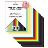 FESTES Buntpapier A6 300g I 126 Blatt Bastelpapier voll durchgefärbt I stabiler kreativ Tonkarton zum Basteln I Fotokarton 21 verschiedene Farben I DIY buntes Tonpapier I Bastelkarton