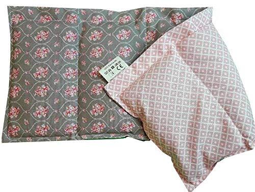 Kissenscheune Körnerkissen Natur Wendekissen Prinzessin/Kyoto rosa Westfalenstoff 50x20cm Wärmekissen Baumwolle