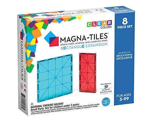 Magna Tiles Rectangles Expansion Set, The Original Magnetic Building Tiles for Creative Open-Ended Play, Educational Toys for Children Ages 3 Years + (8 Pieces)