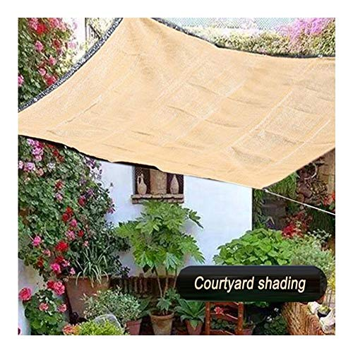 PENGFEI Sunblock Shade Cloth, Sun Protection Anti-UV Ventilation Breathable Used For Balcony Patio Top Floor Outdoor, Custom Size (Color : Beige, Size : 1mx1m)