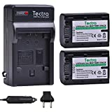 Tectra 2Packs NP-FV50 Battery + Charger Kits for Sony NP-FV30 NP-FV40 NP-FV50...
