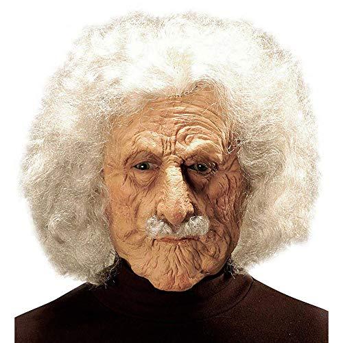 Widmann 6847A Maske Alter Mann Albert mit Perücke und Schnurrbart, Hautfarben, Einheitsgröße