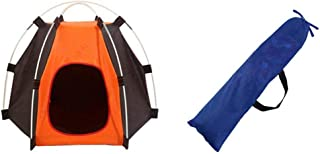 Sports Linque Pet Tent Foldable Dog House Portable Pet Bed Camping Tent Outdoor or Indoor (Orange)
