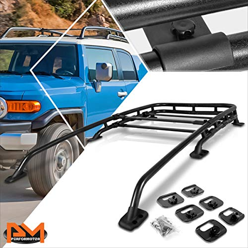 Compatible with FJ Cruiser 07-14 Aluminum OE Style Roof Rack Crossbar Rail Luggage Bag Carrier