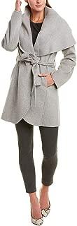 Women's Double Face Wool Coat with Optional Self Tie Belt