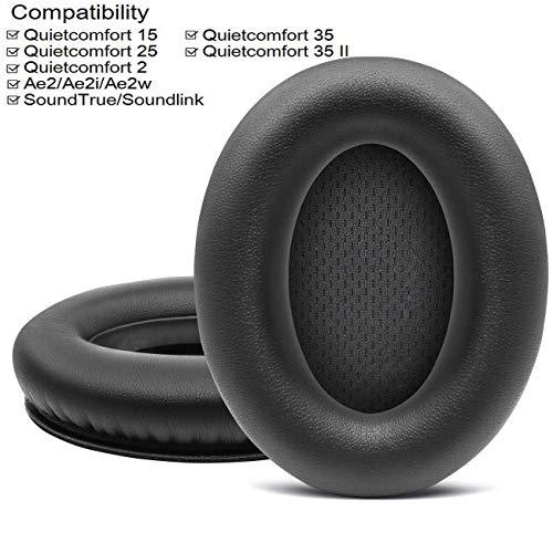 Bingle Cushions Bose Quietcomfort 15 Ear Pads for QuietComfort 15 QC15 QC2 Ae2 Ae2i Ae2w SoundTrue & SoundLink Around Ear Headphones (Black)