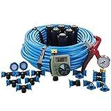 In-Ground Sprinkler System with Hose Watering Timer