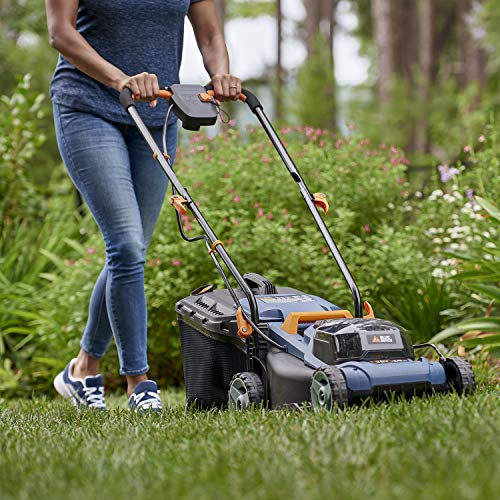 BLUE RIDGE Lawnmower BR8761 Cordless Electric Rotary Lawn Mower with 36V 2.0Ah Li-Ion Battery 34cm Cutting Wide 6 Stage (20-70mm) Cut Height Adjustment