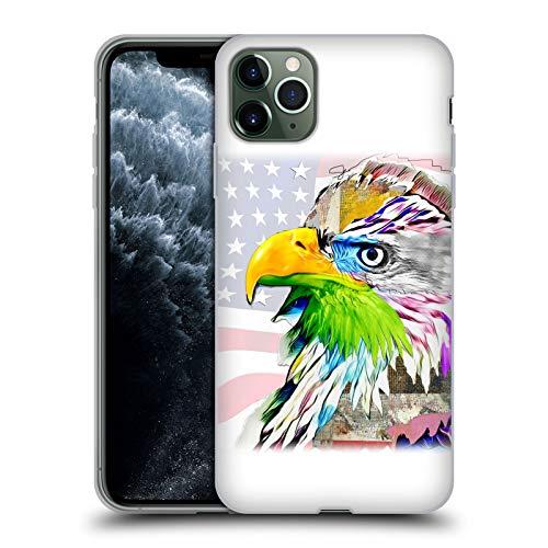 Head Case Designs Oficial Michel Keck Águila Collage Animal Carcasa de Gel de Silicona Compatible con Apple iPhone 11 Pro MAX