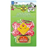New Dookie Dock for hands-free poop bag holding when your dog has done its business, and metal carabiner for easier, more secure attachment to lead Bags on Board Pink Marble Bone Dog Waste Bag Dispenser with 30 bags makes picking up after your dog si...