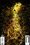 250 LED Firefly Bunch Lights Battery Operated 2Pack Christmas String Lights with Remote Timer 8 Flashing Modes Waterproof Copper Wire Waterfall fairy Lights for Outdoor Holiday Party Decorations