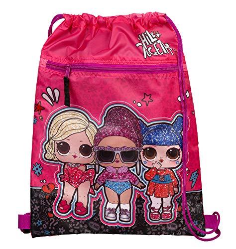 Undercover Schuhbeutel mit Sicherheitsverschluss, LOL Surprise, mit Reißverschlusstasche, ca. 32 x 41 cm , Pink