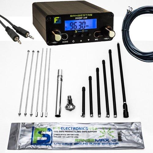 Bundle Deal - 0.5 W Fail-Safe Long Range FM Transmitter FS CZH-05B + Rangemax 1.0 Antenna