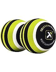 TRIGGERPOINT MB2, dubbele massagebal, verstelbare lengte rugschuimrol, zwart en kalk, 24 cm, limoen, zwart, wit, eén maat