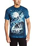 The Mountain Wolf Night Symphony Adult T-Shirt, Blue, XL