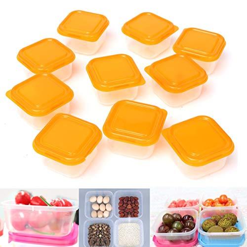 DyNamic 10Pcs / Set Mini Boîte De Stockage Contenant En Plastique Bébé Sevrage Alimentation Boîte De Cuisine De Congélateur Alimentaire