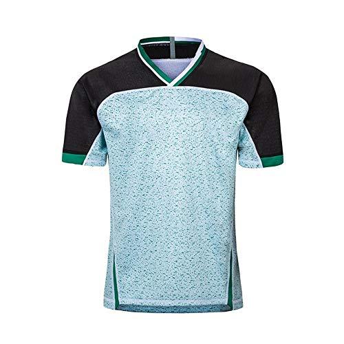 Axdwfd Rugby-Anzug Rugby-Kostüm, 2019 Weltmeisterschaft Japan Fußball-Uniform, Irland Heim- und Auswärts kurzärmlig Jacke Fußball-Uniform-Jersey-Hemd Kurzarm-T-Shirt (Color : White, Size : M)