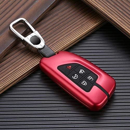 Roki-X Protección de la Cubierta de la Caja de la Llave del Coche de aleación de Aluminio Adecuado para Cadillac CT5 2019 2020 5 Botón Cubiertas de Llave de automóvil remotas Inteligentes