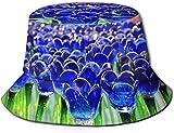 Tulipán de Cristal Unisex Sombrero de Cubo de Viaje de Verano Sombrero de Sol de Playa Gorra de Pescador al Aire Libre
