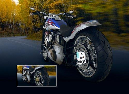 G-elumic Selbstleuchtendes Kennzeichen Motorräder 12V (geprägt) 180x200mm