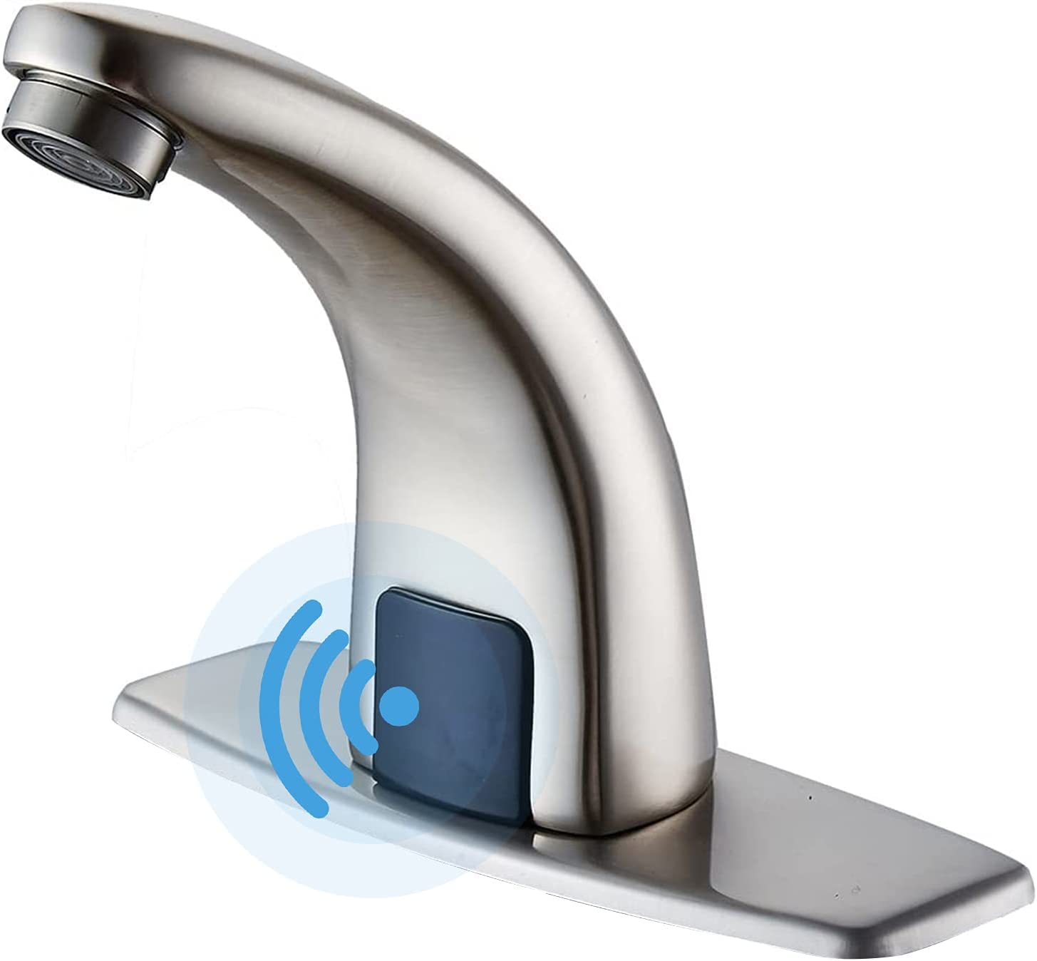 BWE Touchless Bathroom Faucet Brushed with Sink Cove Finally resale start Hole Nickel Max 69% OFF