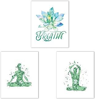 CRPBKU Yoga Pose Poster Art Print 3 Piece Set (10