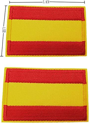 BANDERA DEL PARCHE BORDADO PARA PLANCHAR O COSER (España Sin Escudo 5.5cm)