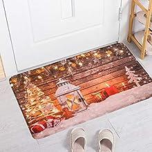 Alfombrilla de Entrada Antideslizante, tapetes Impermeables navideños de bajo Perfil, Felpudo Duradero Original, para Sala de Estar, Pasillo