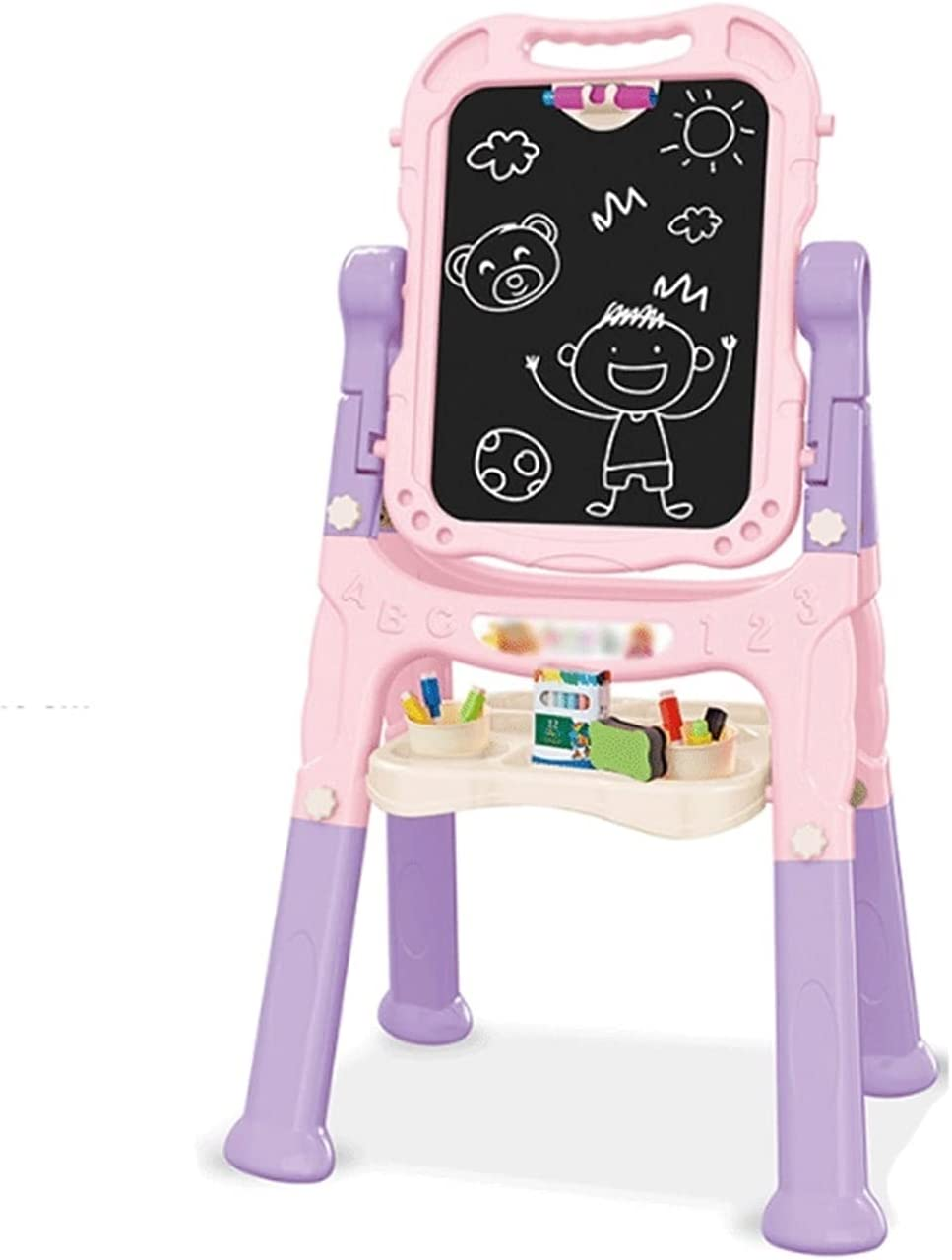 LICHUAN Very OFFicial shop popular Kids Easel Drawing Magnetic Wri Double-Sided Board