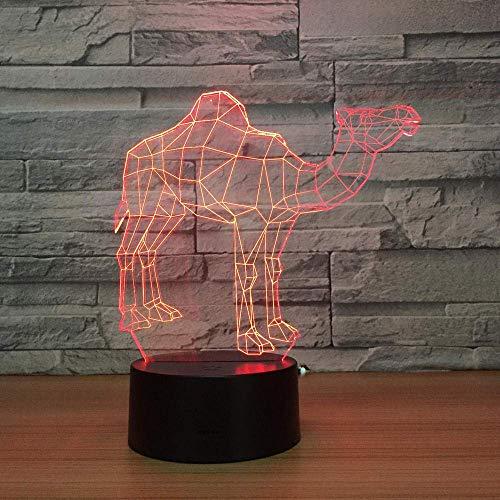 Luz Nocturna Infantil, Luces nocturnas Ilusión 3D 16 colores cambiantes y función regulable, regalo de cumpleaños para jóvenes, niñas Precioso regalo para el corazón Decoraciones