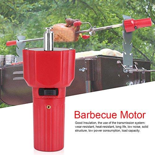 Motore per Barbecue,1.5V Rosso Motore per Torrefazione,Motore Elettrico per Barbecue Girarrosto Arrosto,Accessori per Utensili per Barbecue a Batteria
