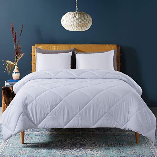 Cosybay Down Alternative Comforter White - Corner Duvet Tabs- Double Sided & Lighweight -All Season Duvet Insert-Stand Alone Comforter – Queen Size(88×92 Inch)