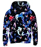 BFUSTYLE Girl's Unicorn Mermaid Design Pullover Hoody with Pocket Lovely Galaxy Star Hooded Sweatshirts & Hoodies for Girls 4-14 Years Old