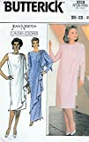 Butterick 3328 Sewing Pattern Shoulder Draped Dress or Formal Gown with Back Zip in Sleeveless or Long Sleeved Styles, By Claudia Cooper Designs for Jean Nidetch