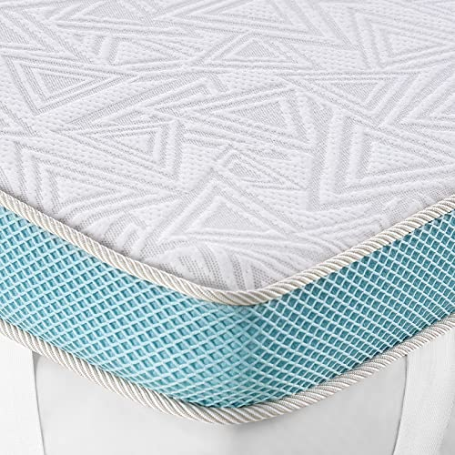 BedStory Memory Foam Mattress Topper Queen, 3 Inch Fusion Gel / Bamboo Charcoal / Green Tea / Copper Infused Memory Foam, High-Density Cooling Bed...