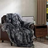 Bedsure Faux Fur Reversible Tie-dye Sherpa Twin Size Shaggy Blanket Throw for...