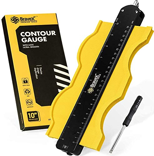 Medidor de contorno – Duplicador de forma de medidor de perfil de 10 pulgadas con bloqueo ajustable, copia de forma irregular con precisión