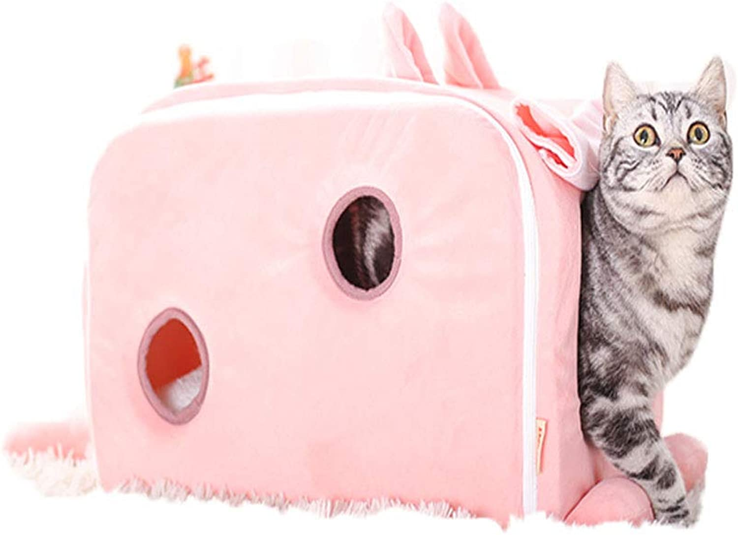 FITIN Pet Nest Cat Litter Princess Cats House Cute Cat Bed Comfortable Soft Pet House Suitable For Most Small Animals,rabbit,M