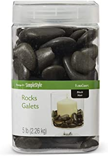 FloraCraft Vase Filler Rocks 5 Pounds Black