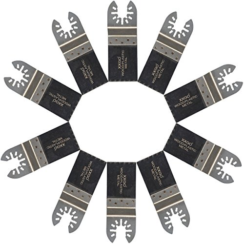 Purchase XXGO 10 Pcs Bi Metal Oscillating Multitool Blades Compatible with Bosch, Chicago, Craftsman...
