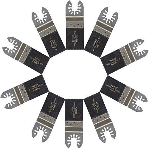 Purchase XXGO 10 Pcs Bi Metal Oscillating Multitool Blades Compatible with Bosch, Chicago, Craftsman, Dewalt, Dremel, Fein, Harbor Freight, Makita, Milwaukee, Porter Cable, Ridgid, Ryobi, Rockwell and More
