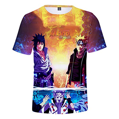Naruto T-Shirts 3D Impresión Camisetas de Manga Corta de